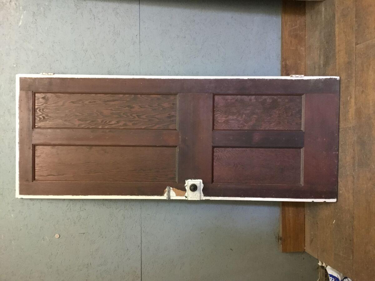 Varnished Pine 4 Panel Door 1