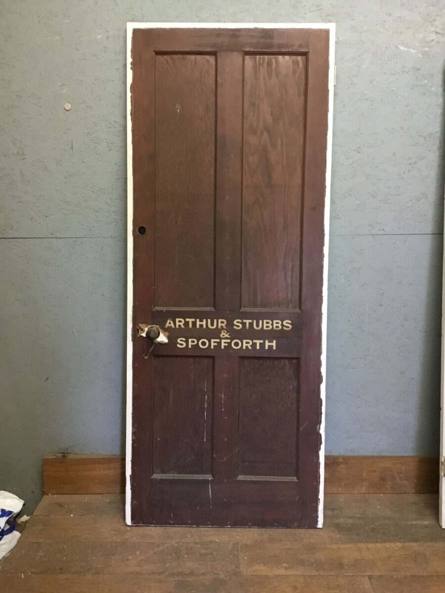 Varnished Pine 4 Panel Door 2