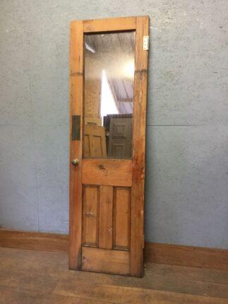 Stripped Pine Mirrored Door