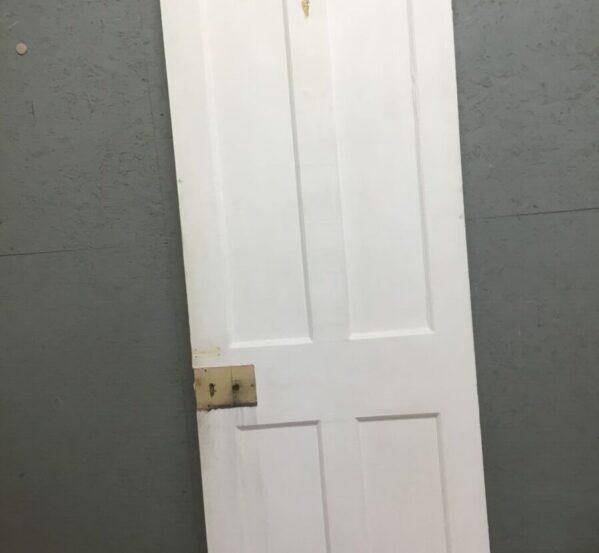 Unbeaded Painted Four Panel Door