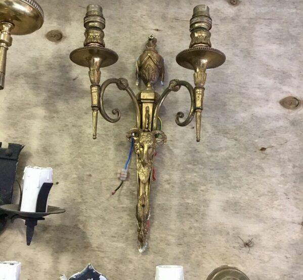 Gold Goat Wall Lamp