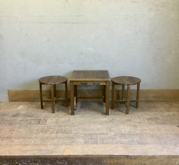 Set of Stools With Table