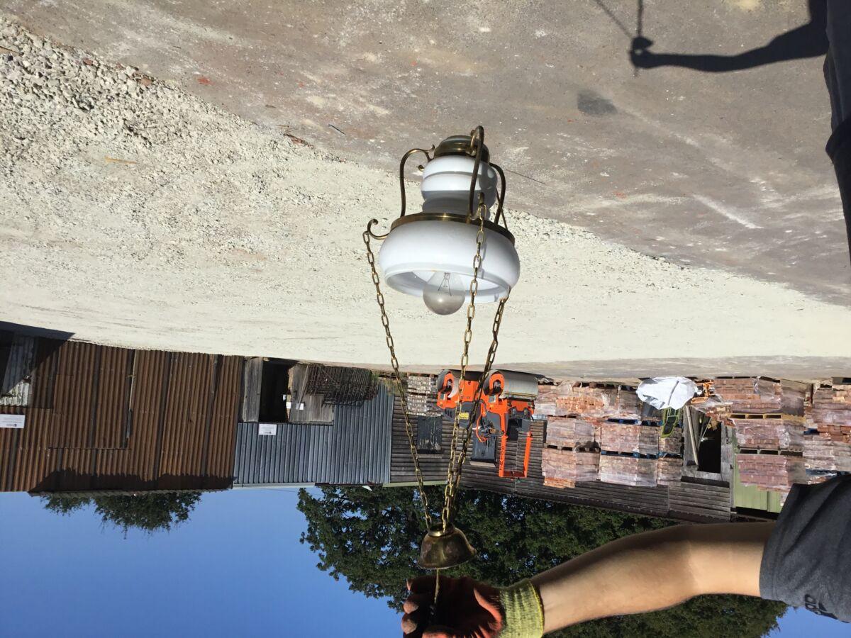 White China Hanging Light