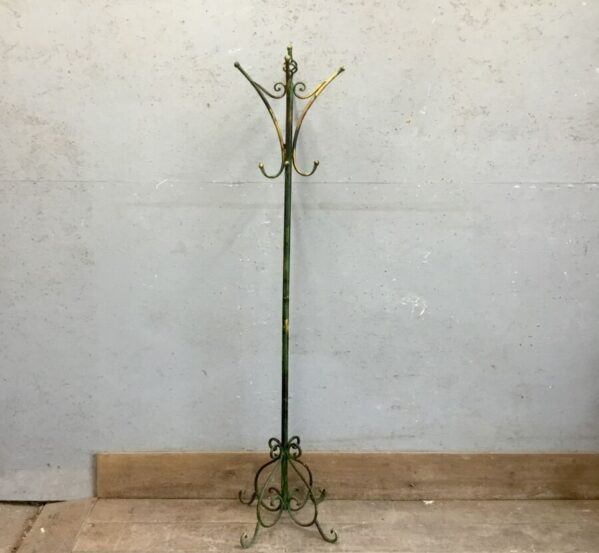 Green Painted Coat Stand