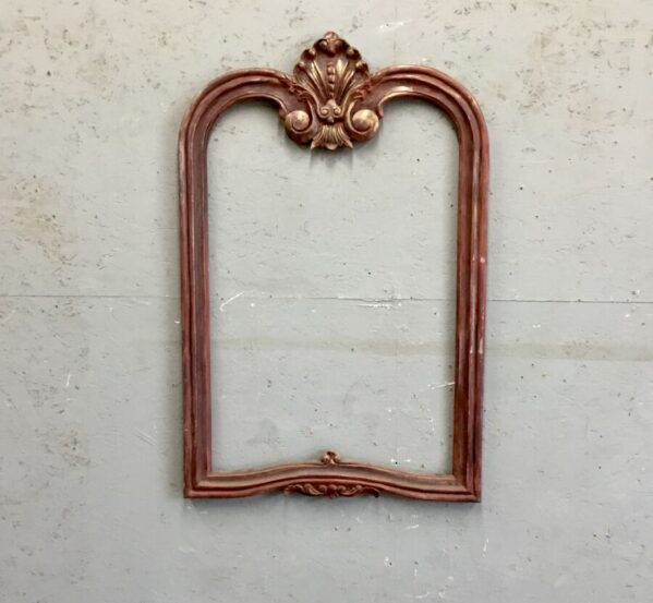 Red Painted Mirror Frame