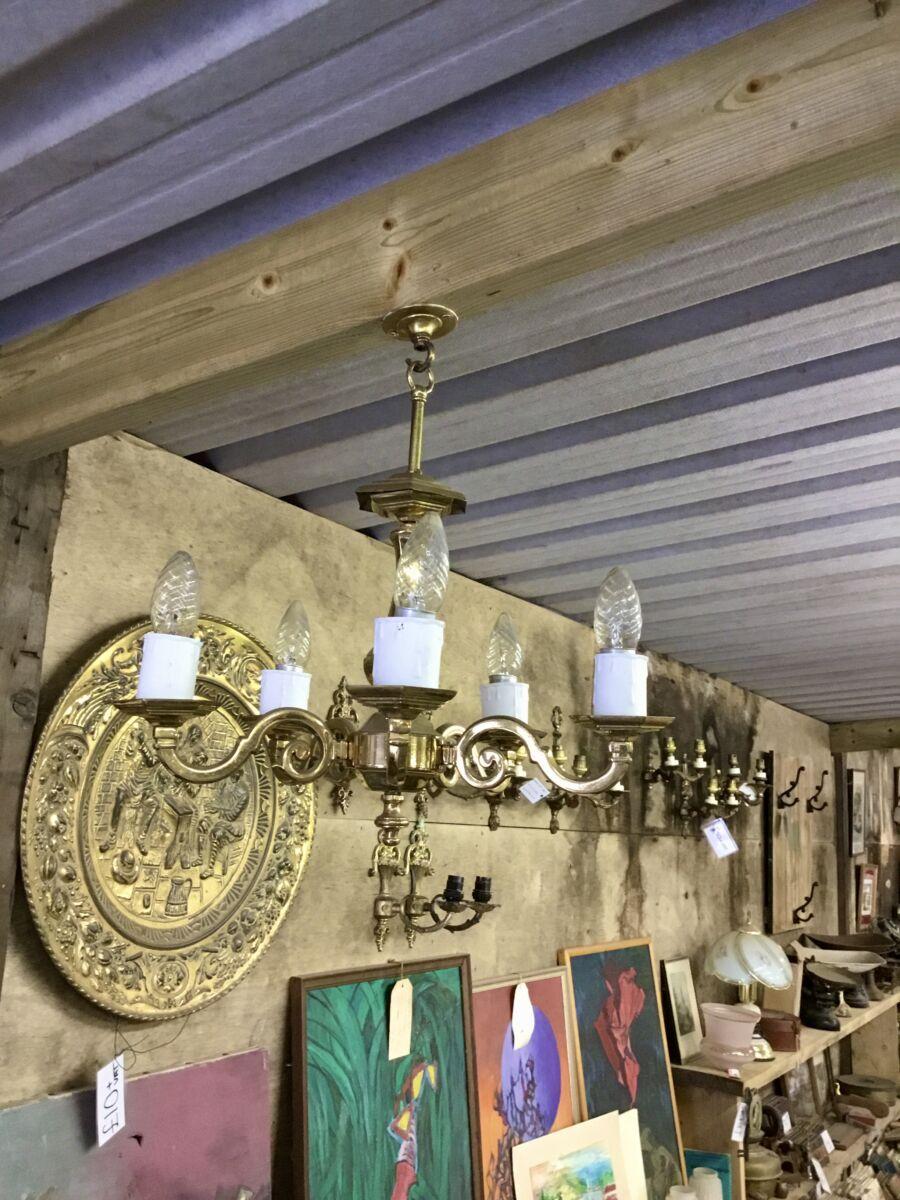 Gold Ceiling 5 Light