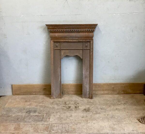 Rustic Cast Iron Fire Insert