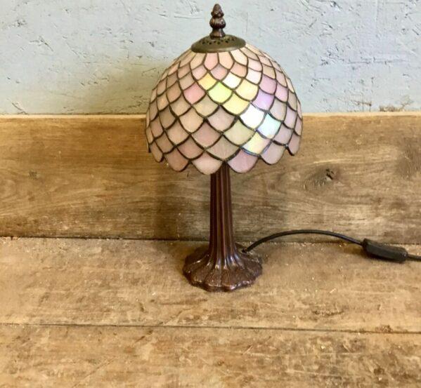 Colour Patterned Glass Desk Lamp