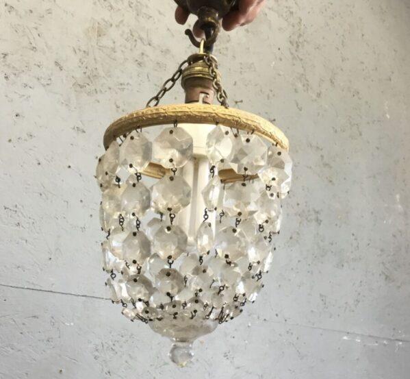 Small Crystal Hanging Light