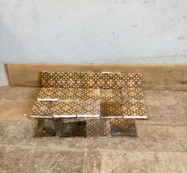 Set of 28 Fireplace Tiles