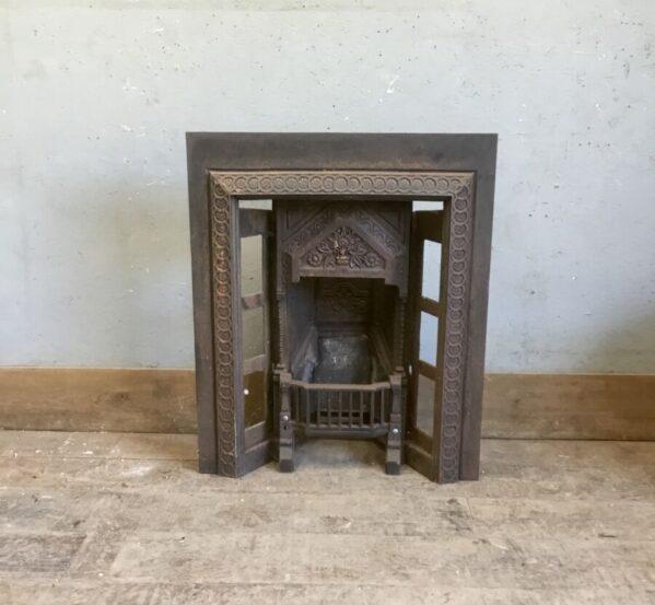 Engraved Cast Iron Fire Insert