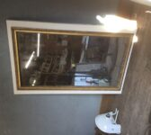 Gold Rimmed Large Mirror