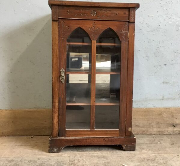 Glass Cabinet Mirrored Back
