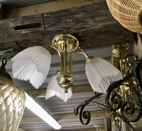 Cloudy Glass 3 Lamp