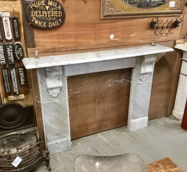 Reclaimed Marble Fire Surround